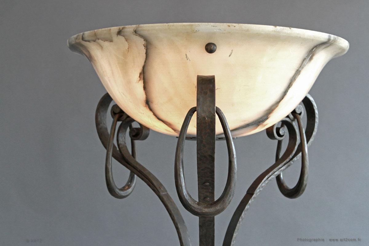 Artz sp cialiste en lampadaires art d co aux puces de st - Lampadaire fer forge interieur ...